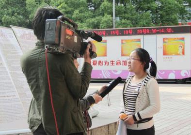 镇海电视台报道知识产权校园行项目