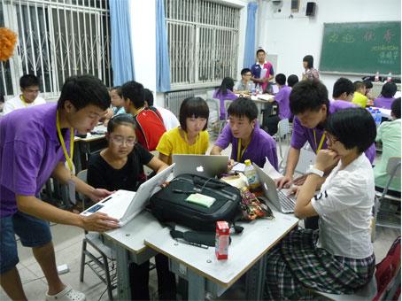 第二届全国中学生领导力大赛志愿者工作场景