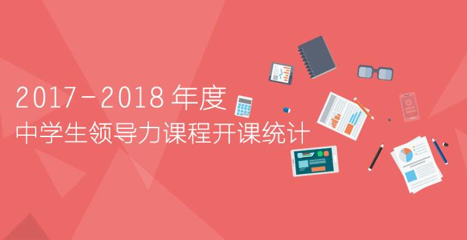 2017-2018年度中学生领导力课程开课统计表